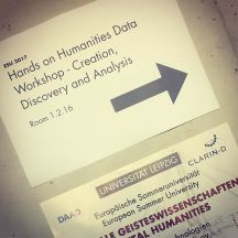 Humanities Data Workshop